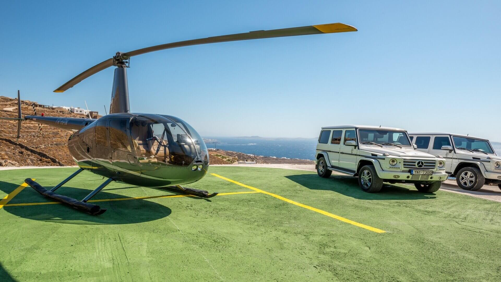 mykonos helicopter