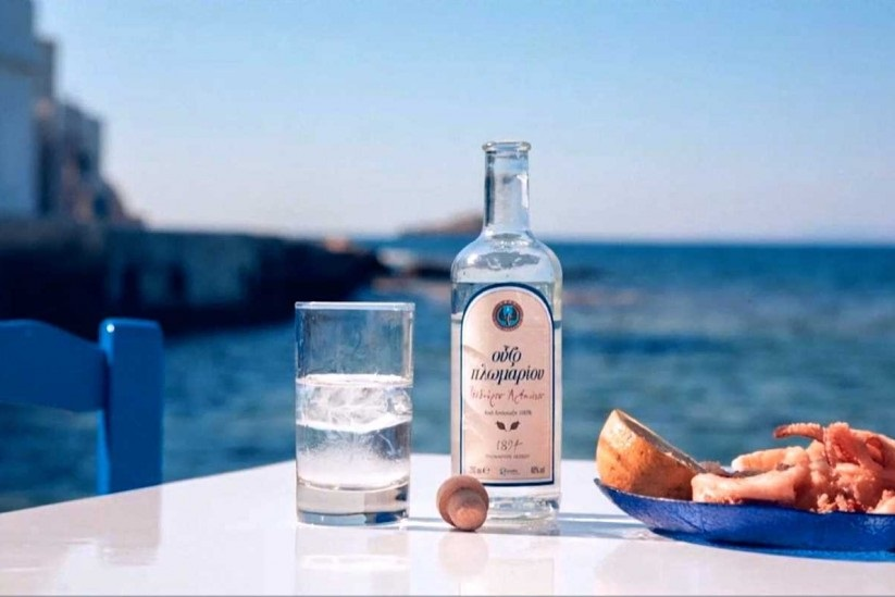 Ouzo Drink at Mykonos